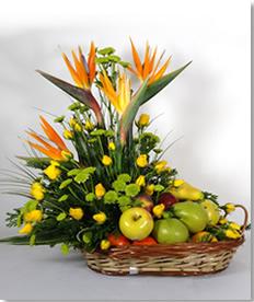 Canasta Flores Fruta Monterrey Masflores Com Mx