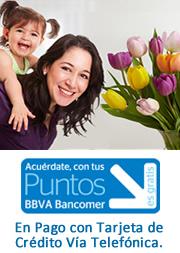 Utilice sus puntos Bancomer al comprar con su tarjeta de credito por telefono